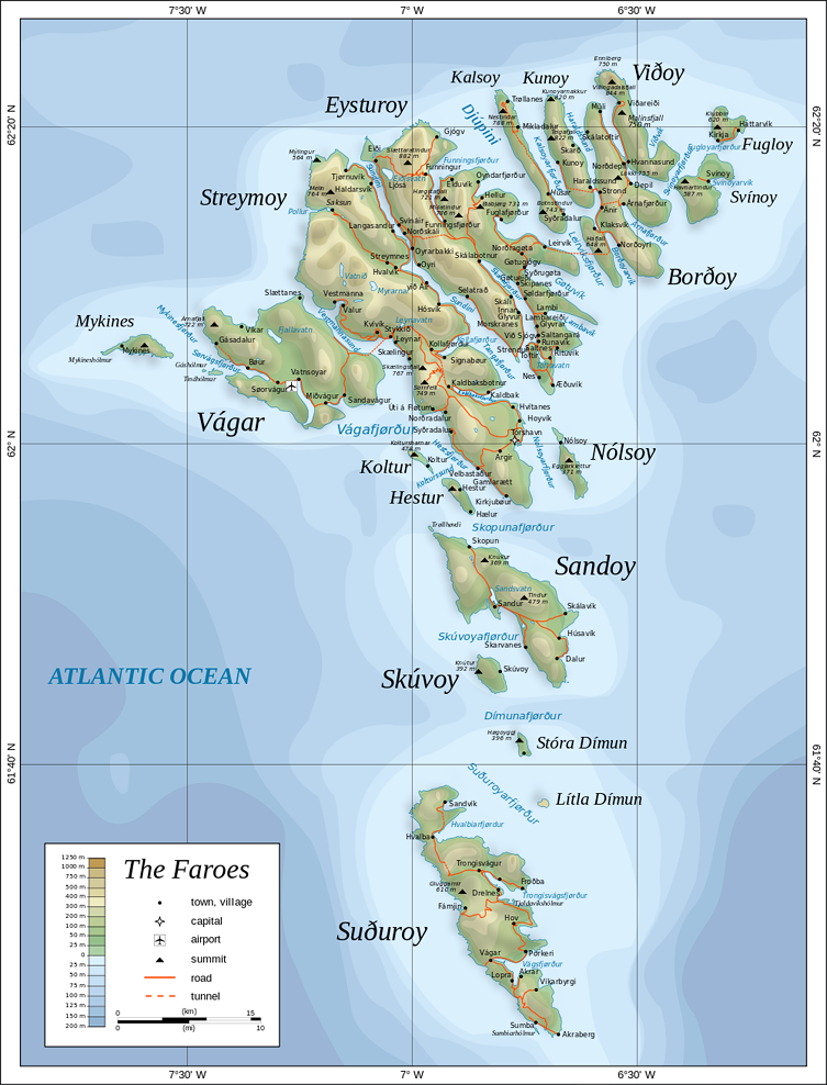 753px Map of the Faroe Islands en